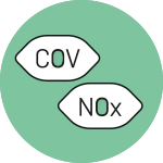 Simbolo di COV e NOx