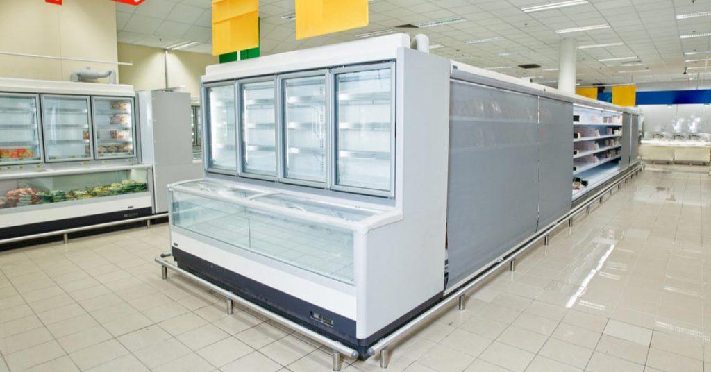 Banco surgelati di un supermercato