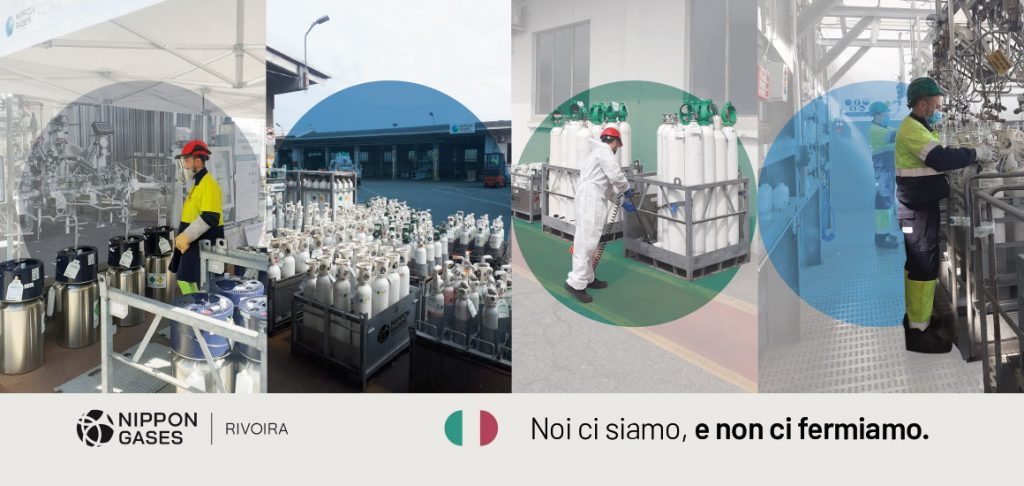 Colleghi di Nippon Gases Italia che imbonbolano Ossigeno medicale