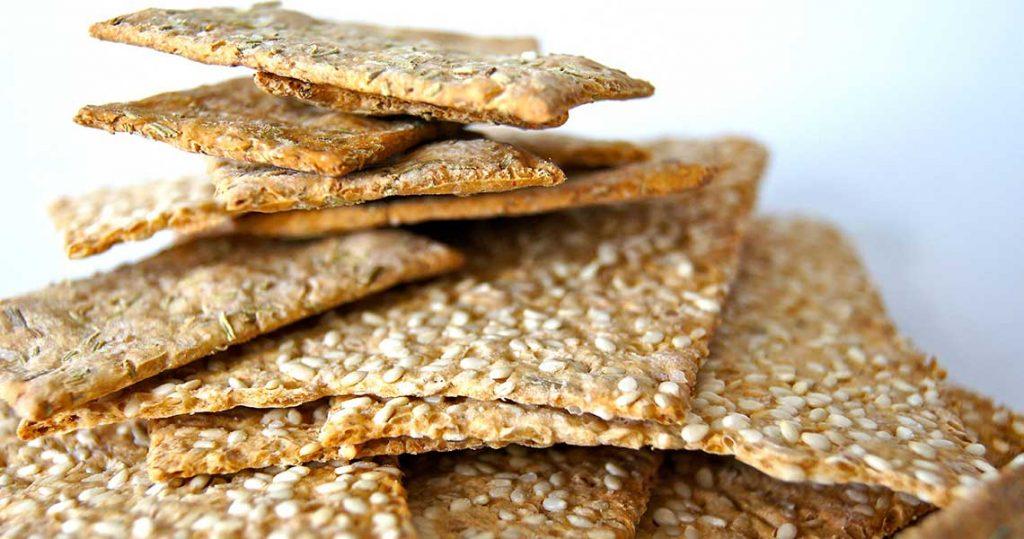 Cracker Gluten free confezionati senza l'utilizzo di alcool