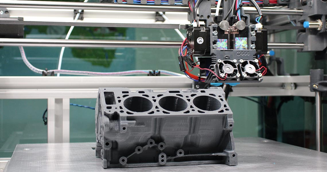 Stampa 3d di un motore con processo di Metal Additive Manufacturing