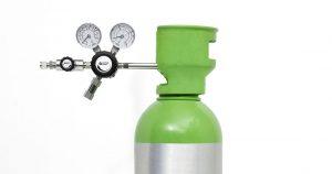 bombola di gas con riduttore di pressione