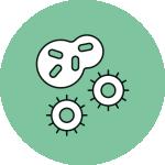 Simbolo di virus e batteri Covid19