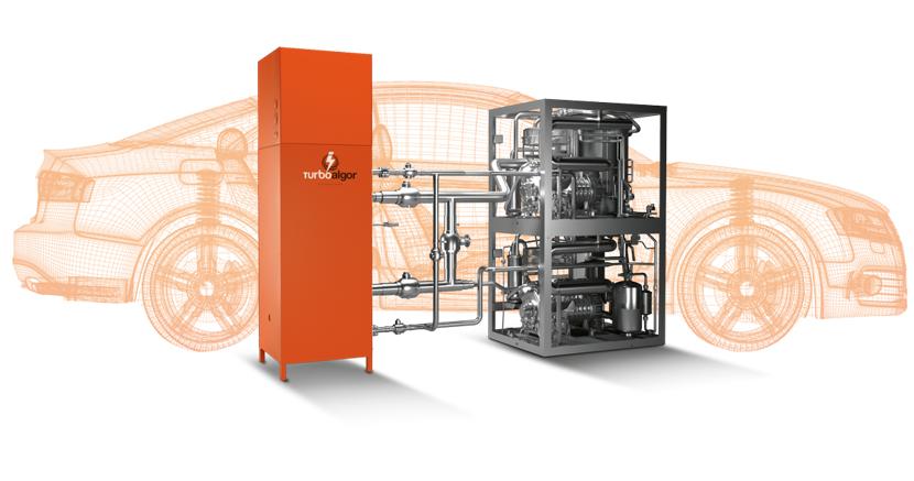 tecnologia turboalgor per impianti di refrigerazione